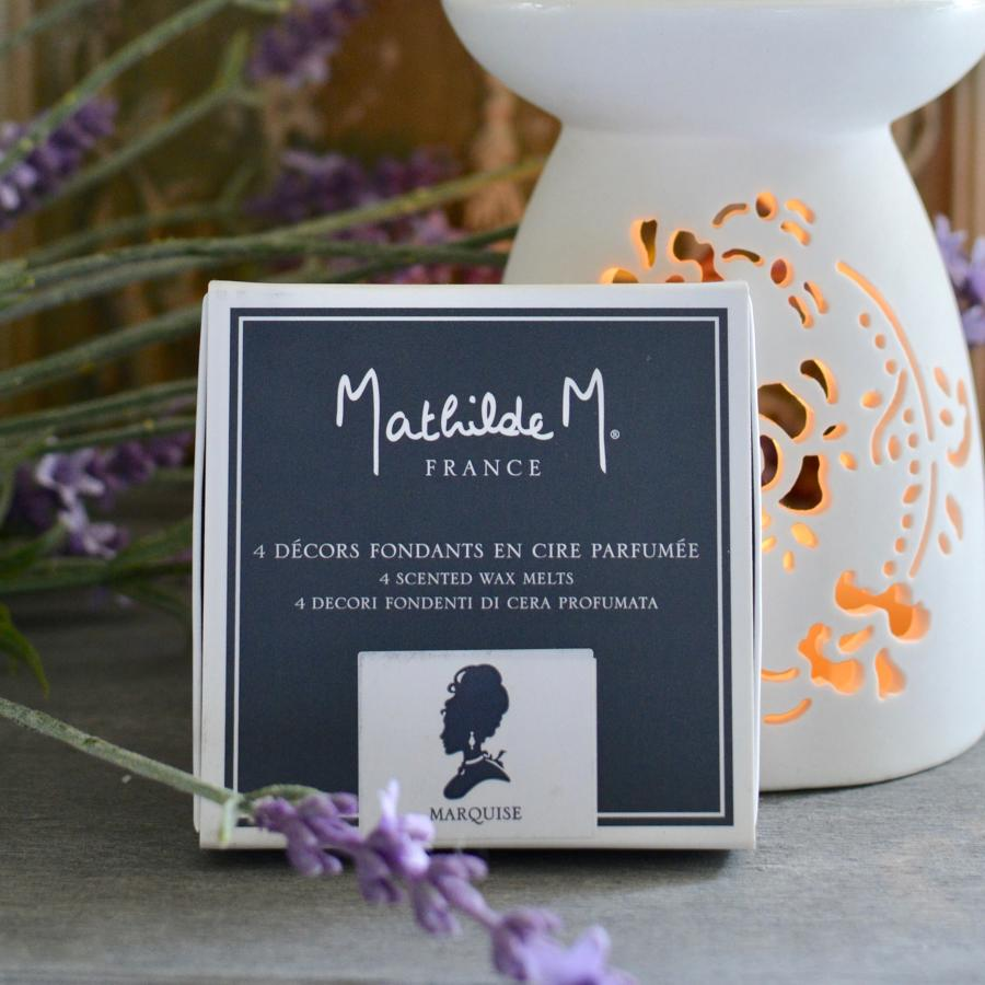 Set of 4 Mathilde M. Wax Melts- Marquise Fragrance.