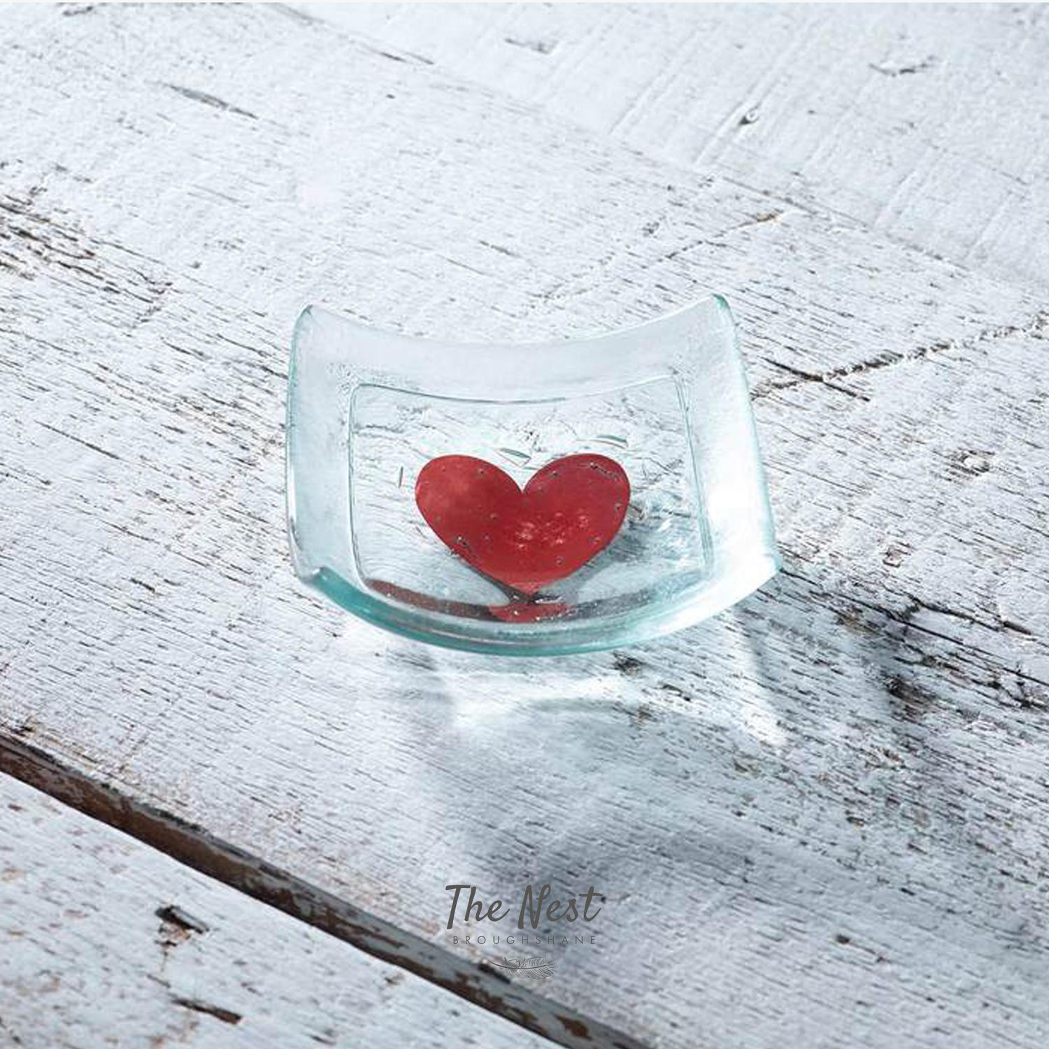 Classic Klaar Red Heart Jewellery Dish