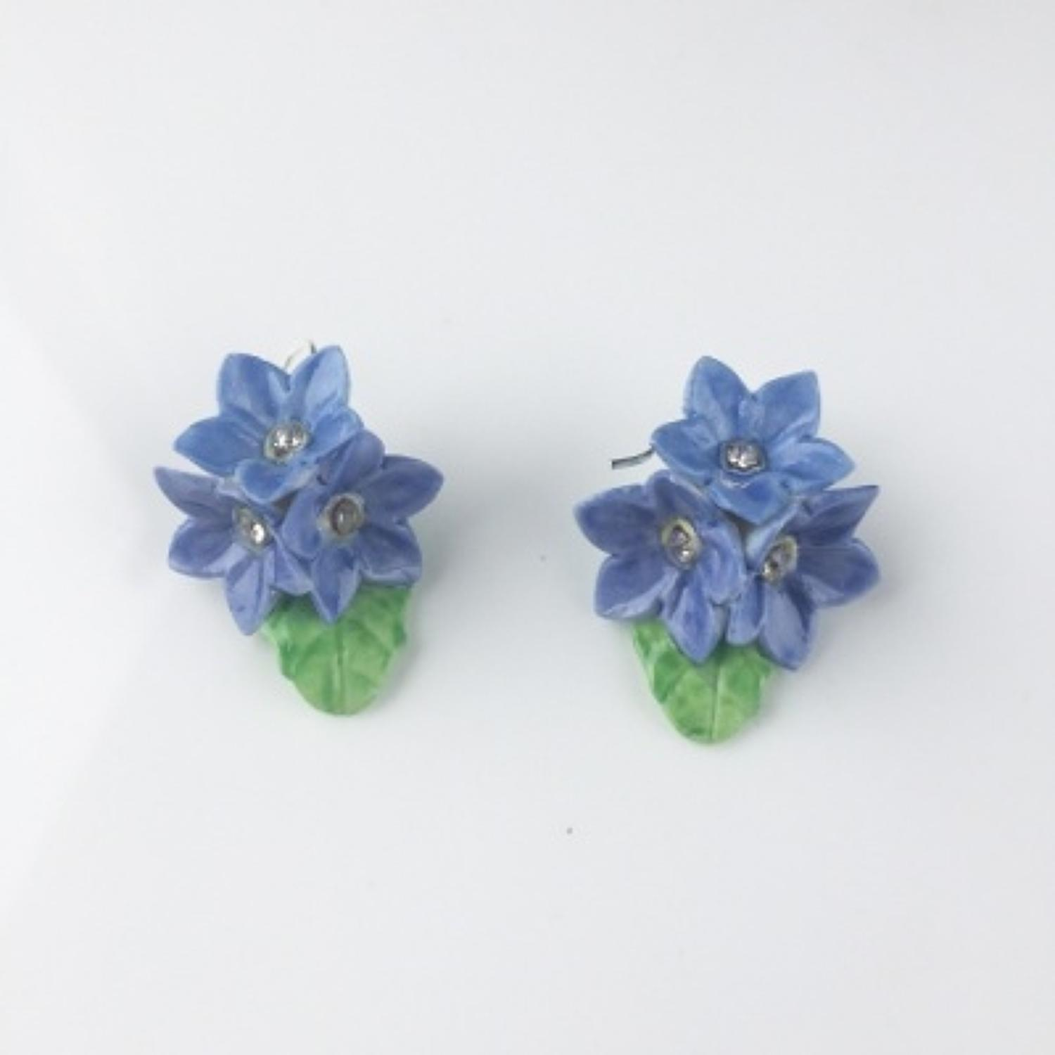 Hop, Skip & Flutter - Forget-me-not Earrings