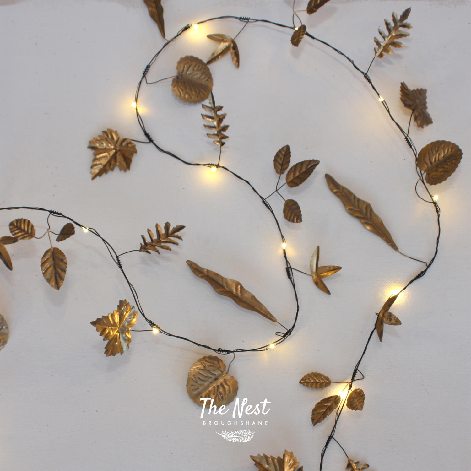 Gold Leaves - 20 LED Light Chain