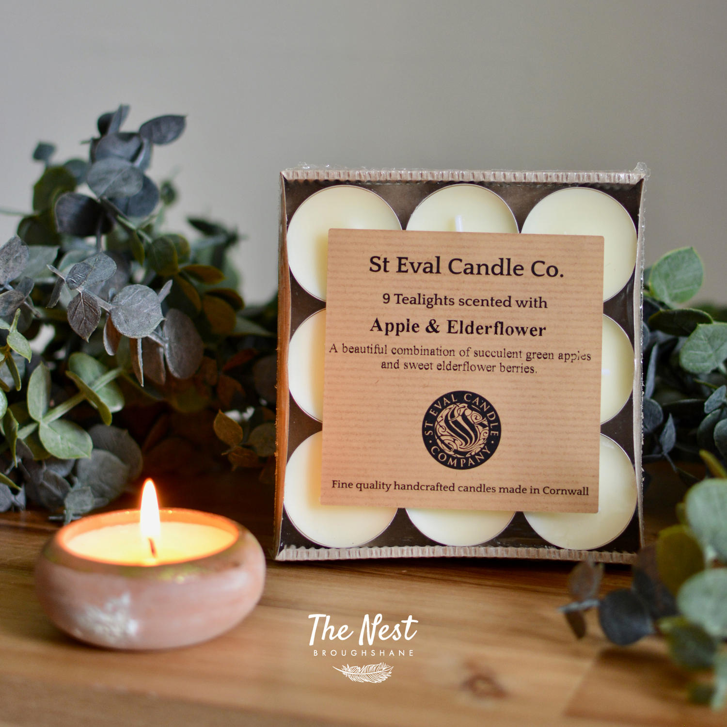 St Eval - Apple & Elderflower Scented Tealights