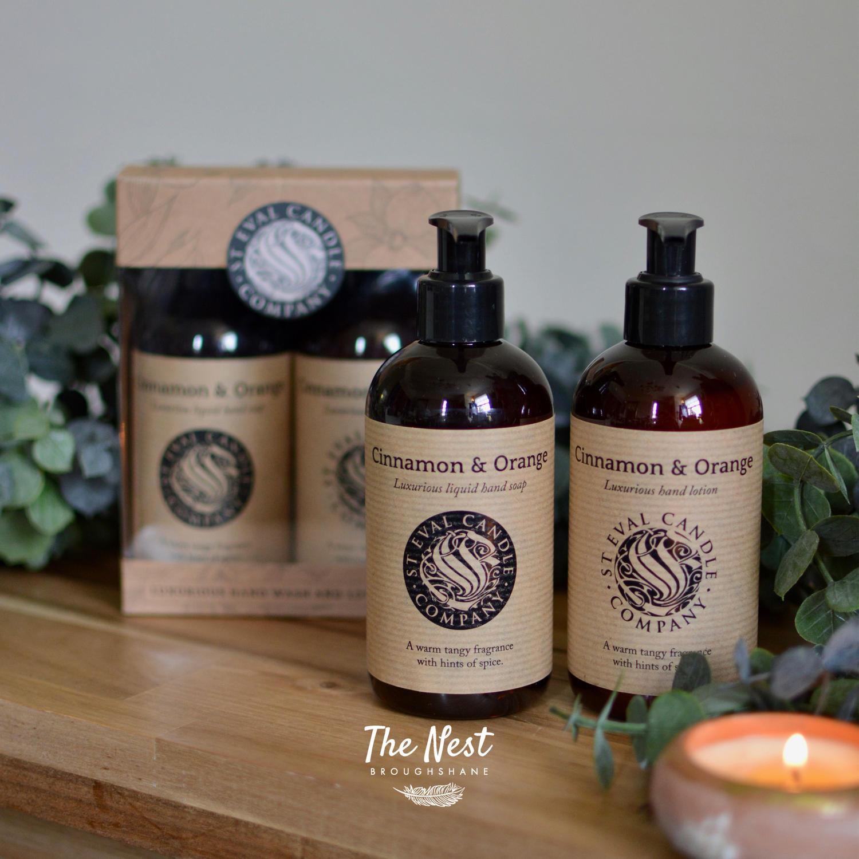 St Eval - Cinnamon & Orange  Liquid Hand Wash & Hand Lotion