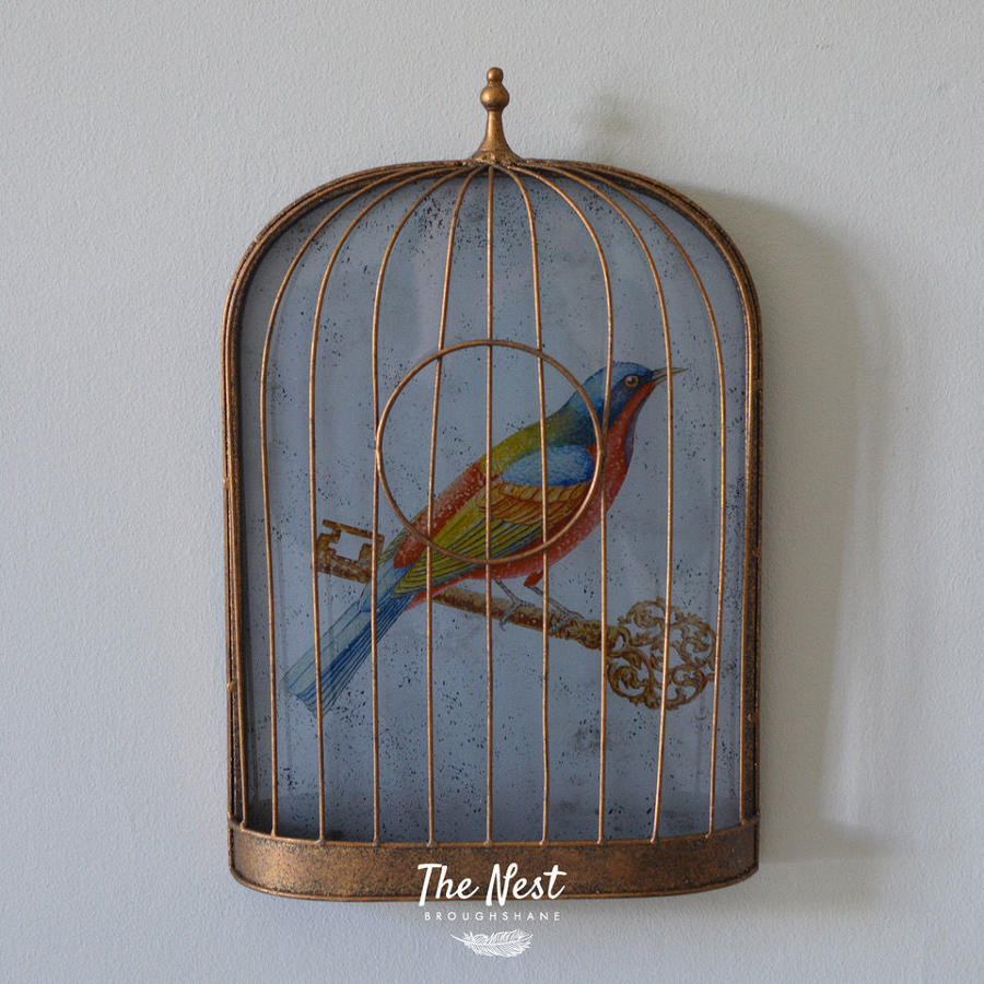 French Birdcage Wall Decoration