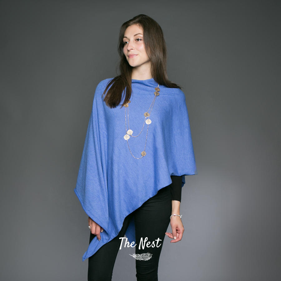 Poncho - Cornflower Blue