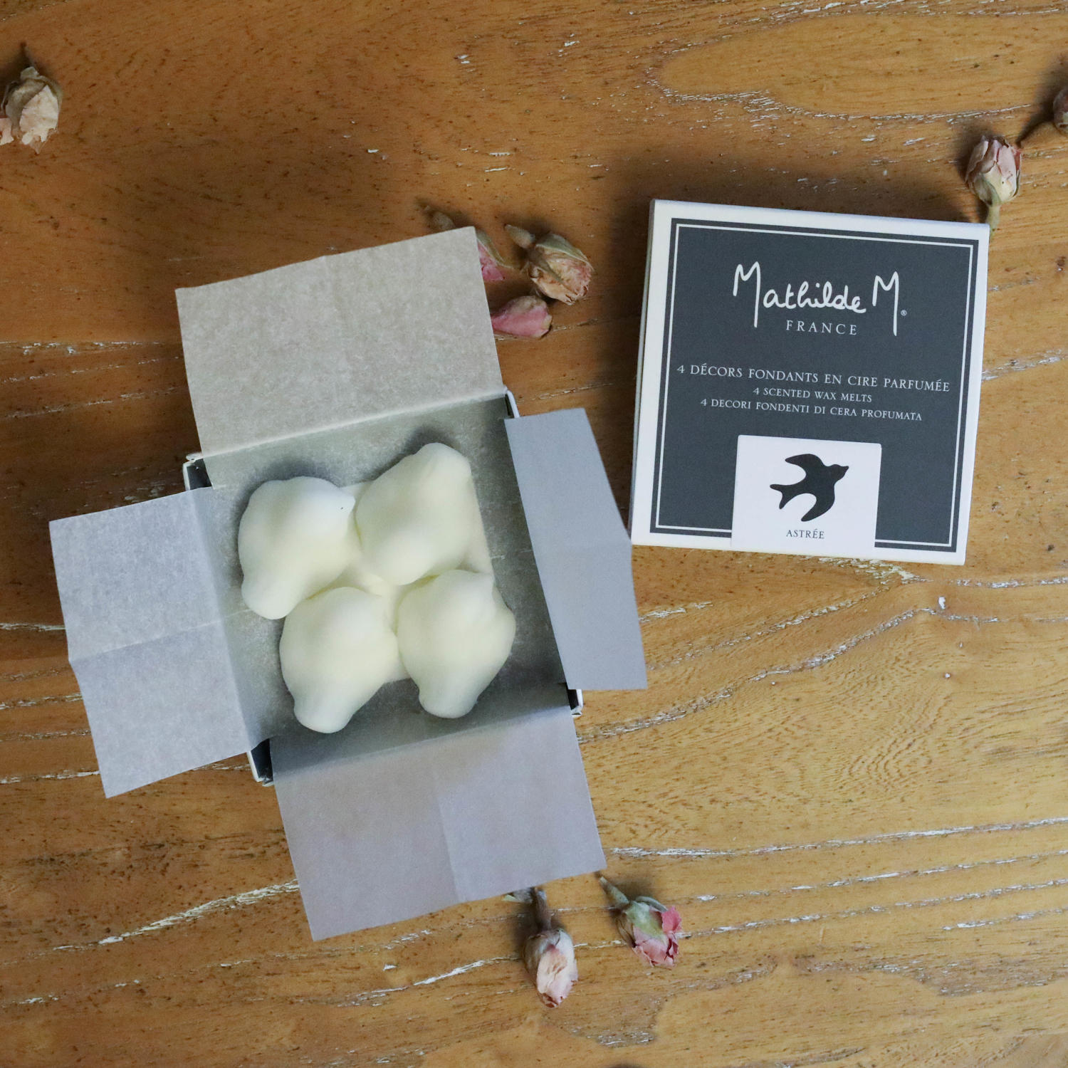 Mathilde M. France - Box of 4 Astree Scented - Bird Shaped Melts