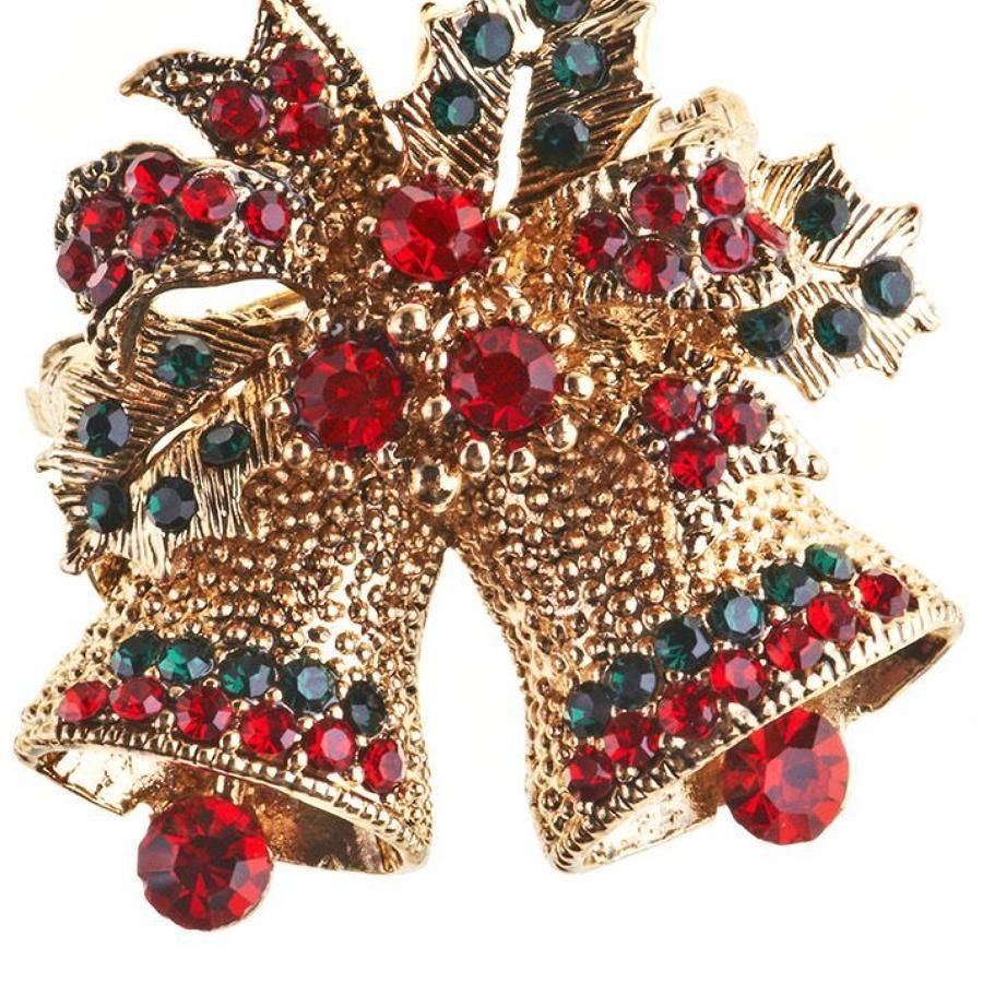 Rosie Fox - Festive Bells Brooch