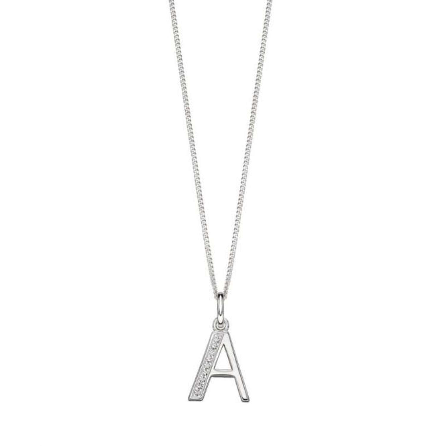 Elements Sterling Silver Birthstone Necklace