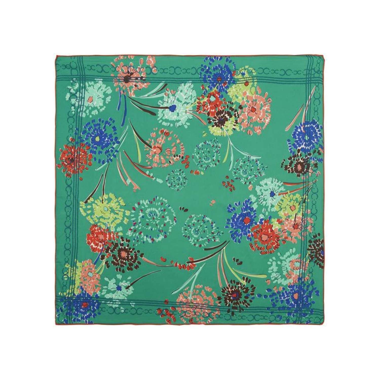Rosie Fox London - Emerald Floral Silk Scarf
