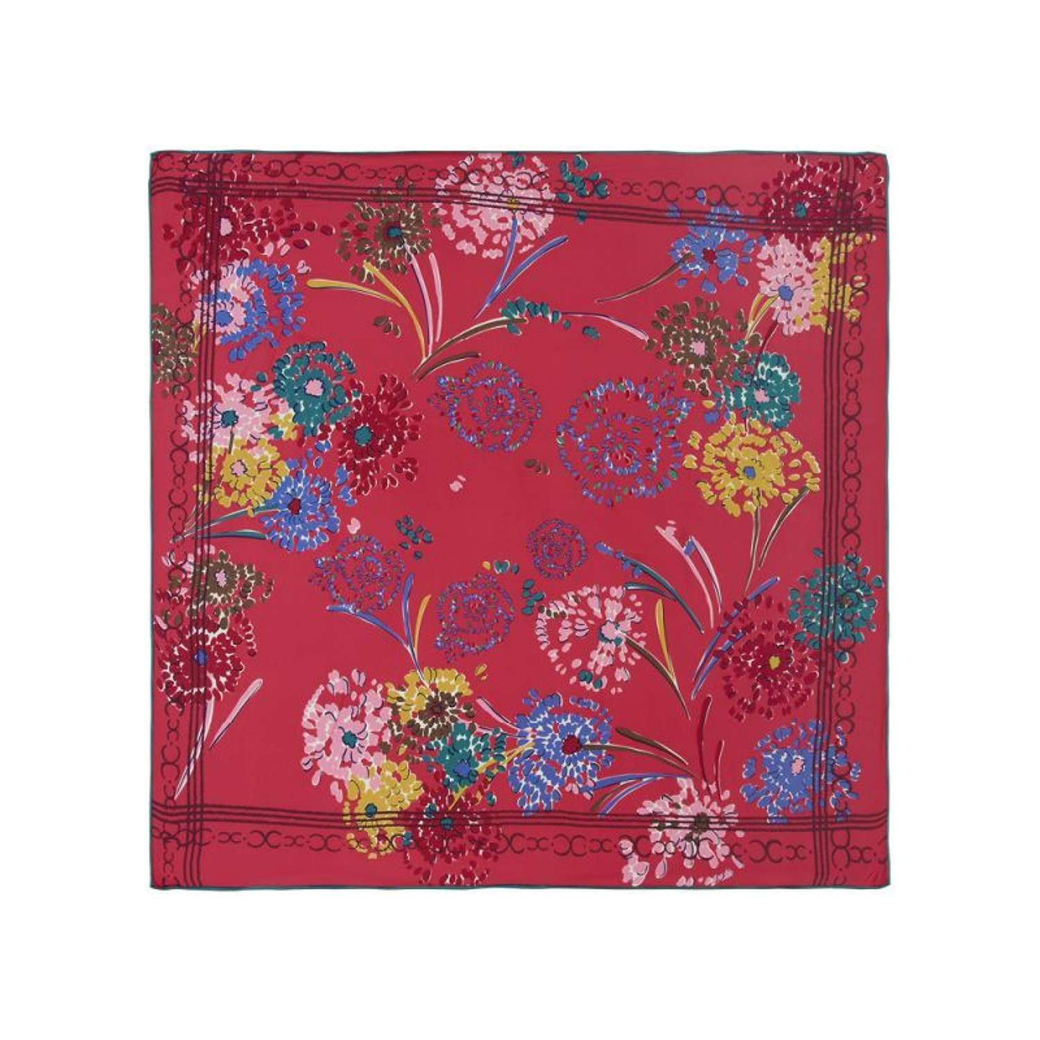 Rosie Fox London - Fuchsia Floral Silk Scarf