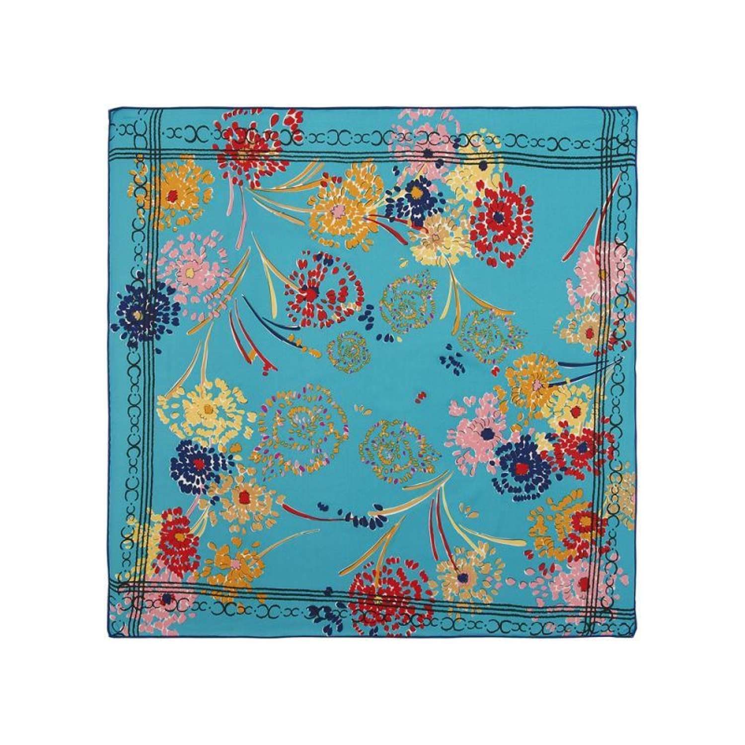 Rose Fox London - Ocean Floral Silk Scarf