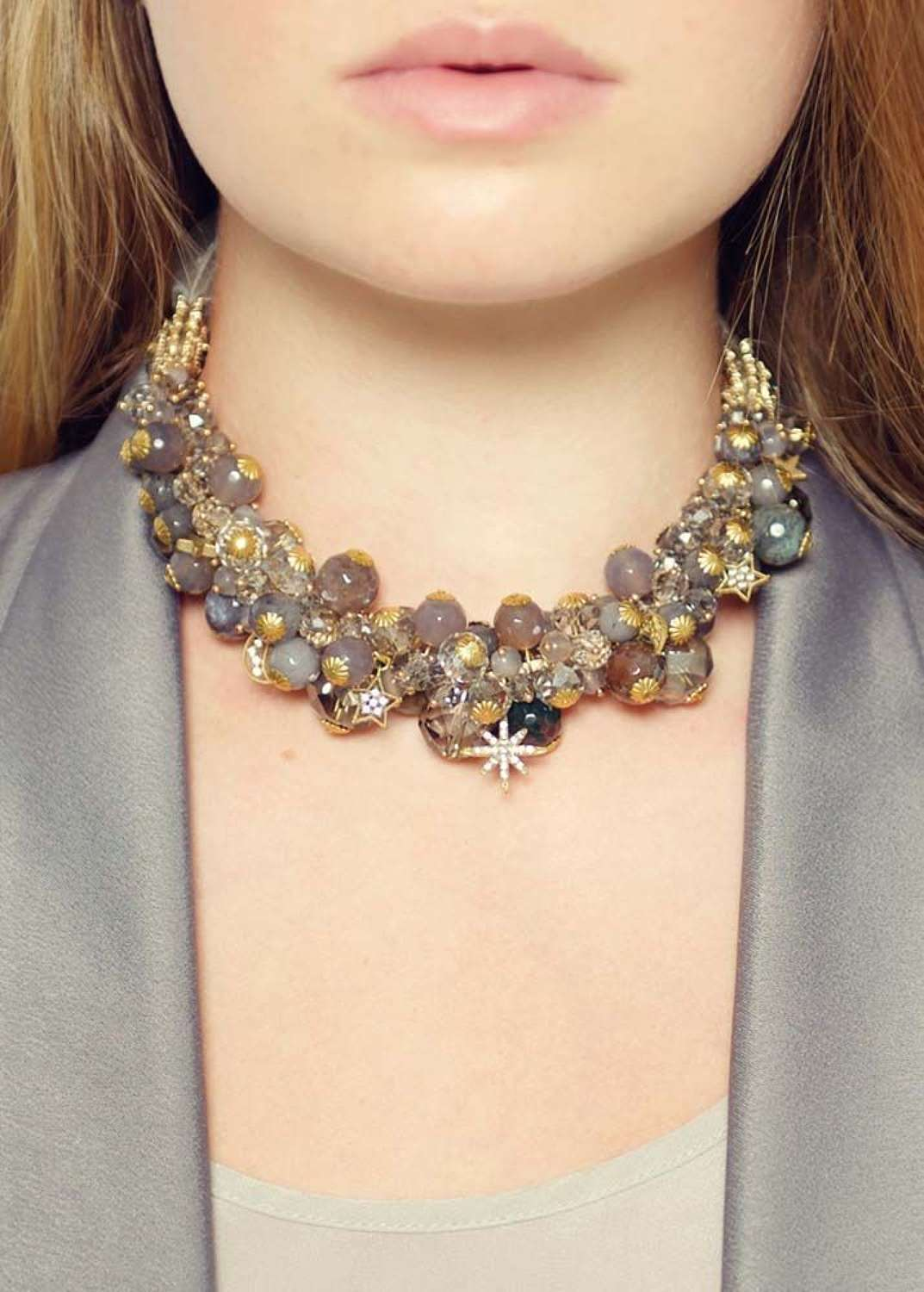 Rosie Fox - Dove Agate Statement Necklace