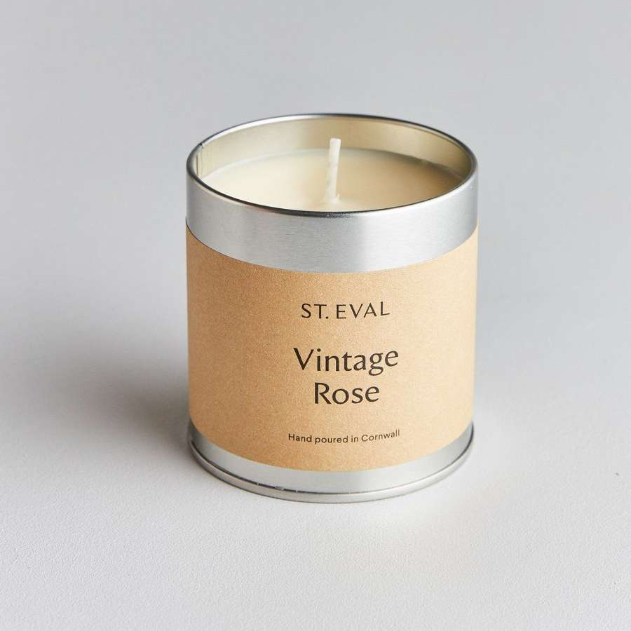 St Eval - Vintage Rose Scented Tin Candle