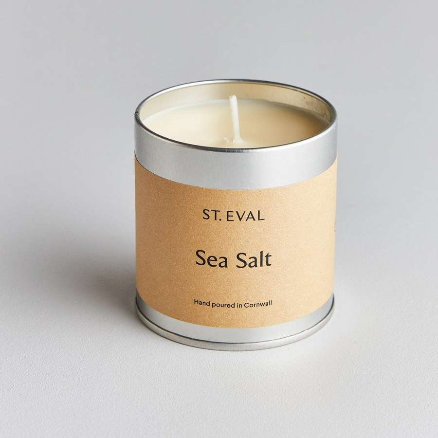 St Eval - Sea Salt Scented Tin Candle