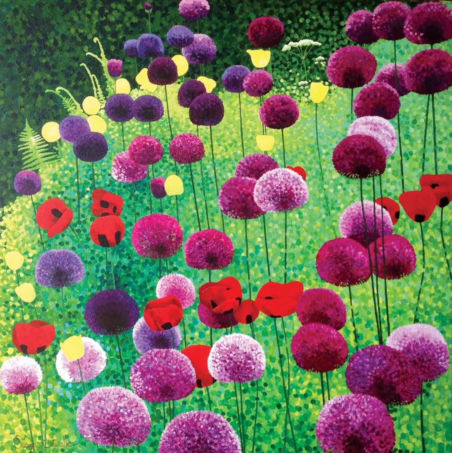 Susan Entwistle -  Alliums & Poppies Card