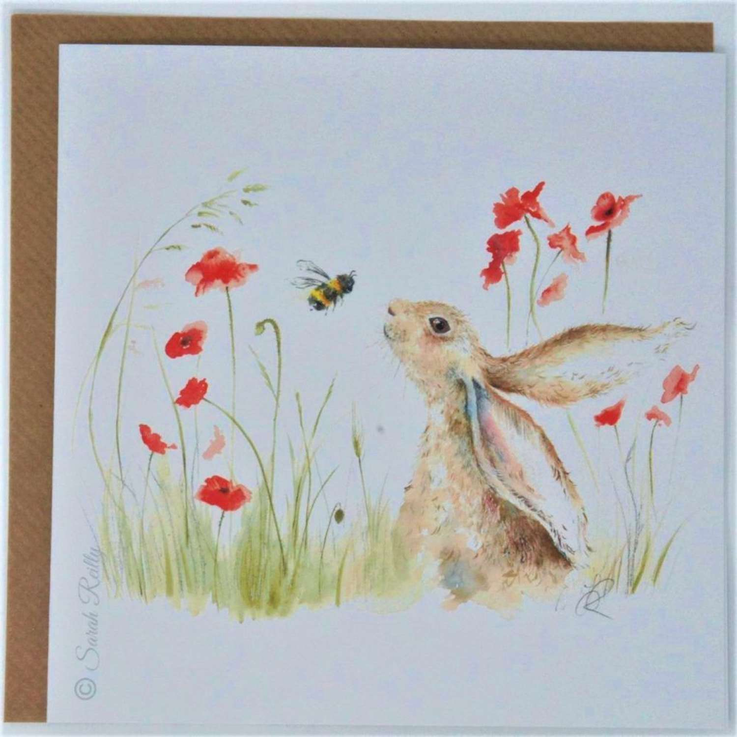 Love Country  - Bee Lovely Card by Sarah Reilly.