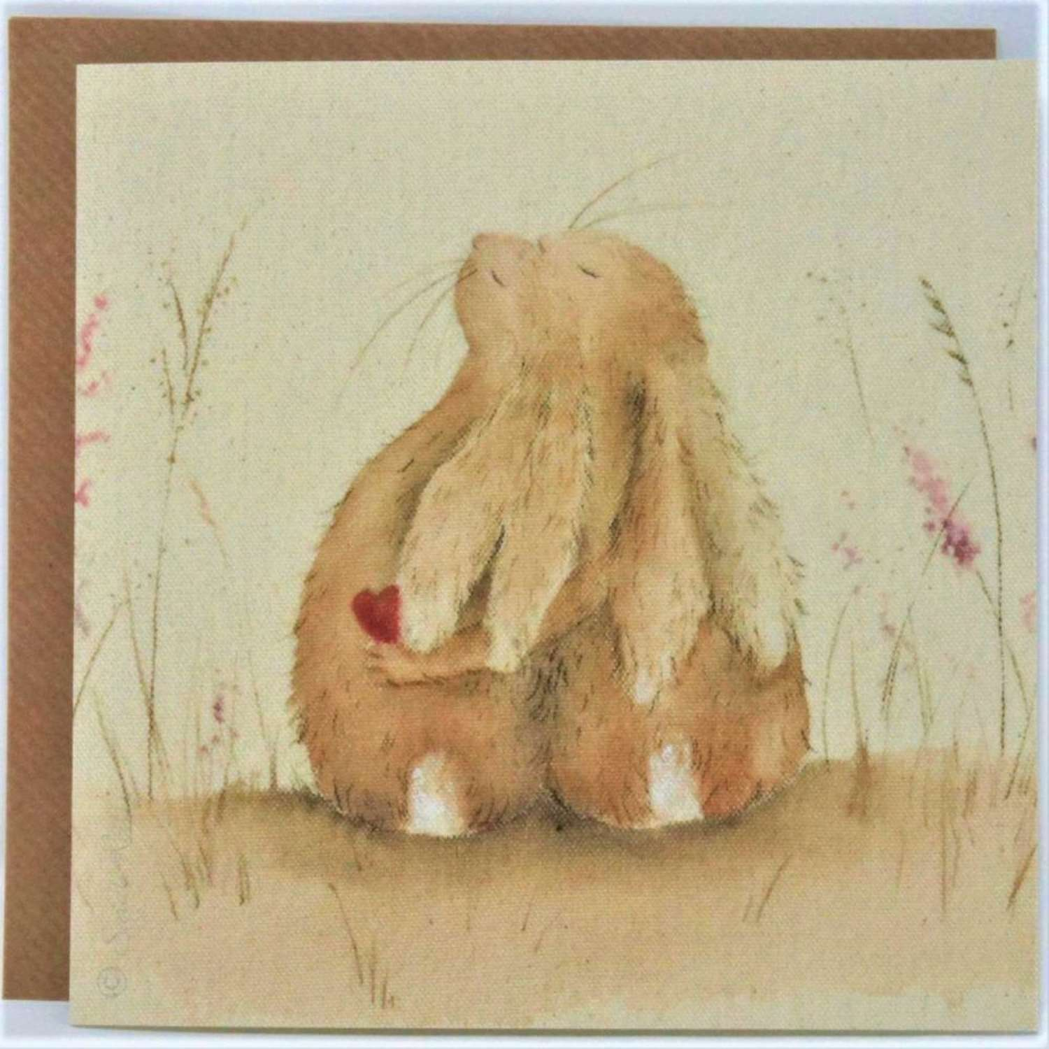Love Country - Always Hare Card by Sarah Reilly.