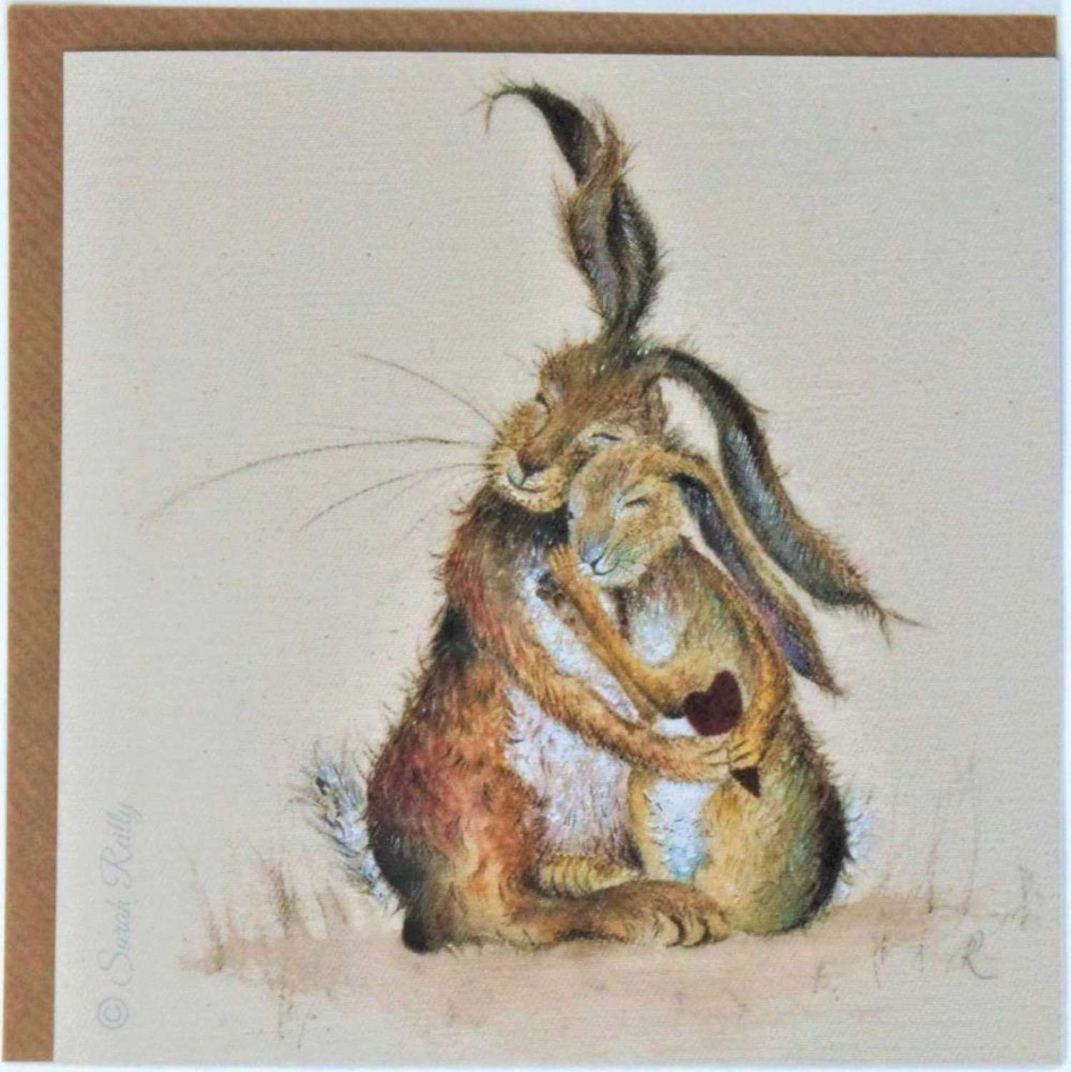 Love Country- Hares my Heart Card by Sarah Reilly