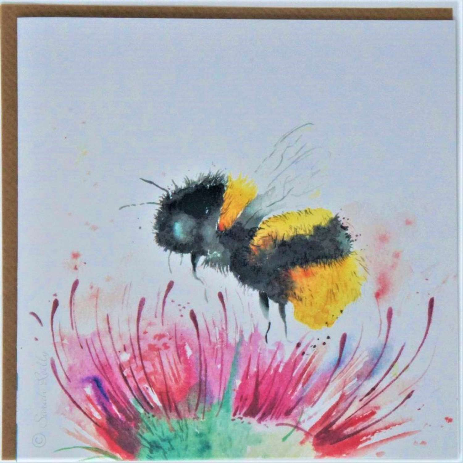 Love Country - Thistle & Bee Card by Sarah Reilly
