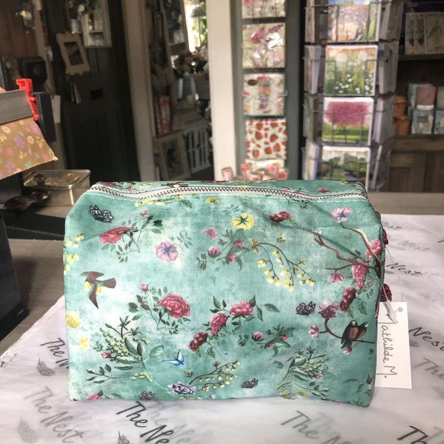 Mathilde M. France - Bird/Floral Detail Cosmetic Bag.