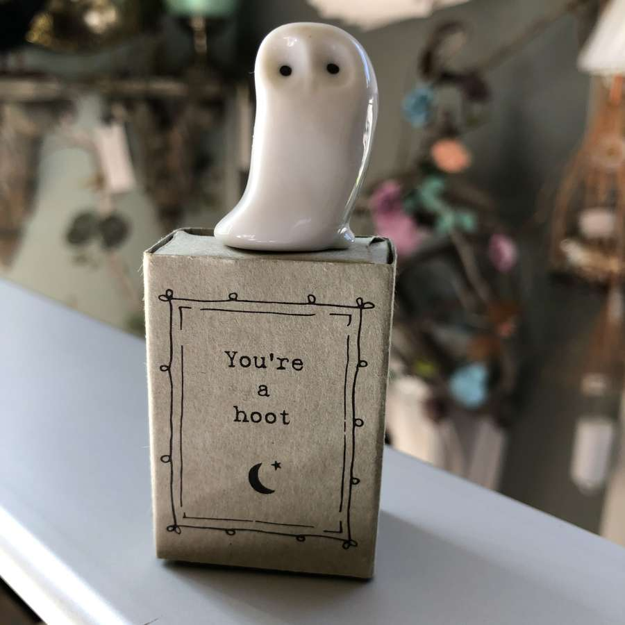 East of India - You're a Hoot Matchbox Gift