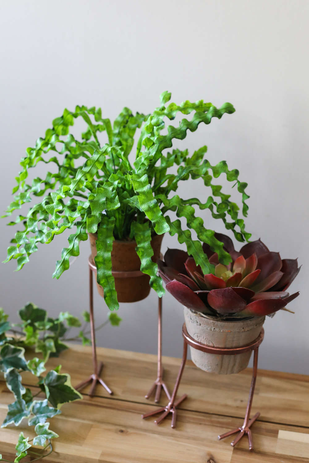 Copper Footed Plant/Herb Holder.