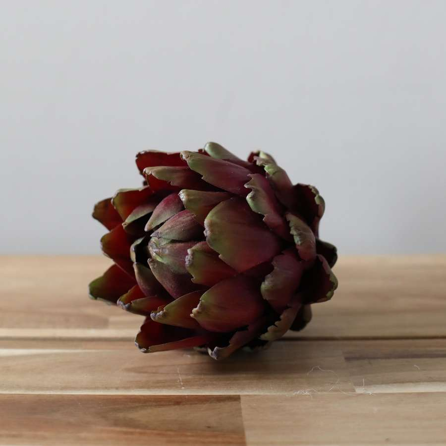 Green & Purple Artichoke Head.