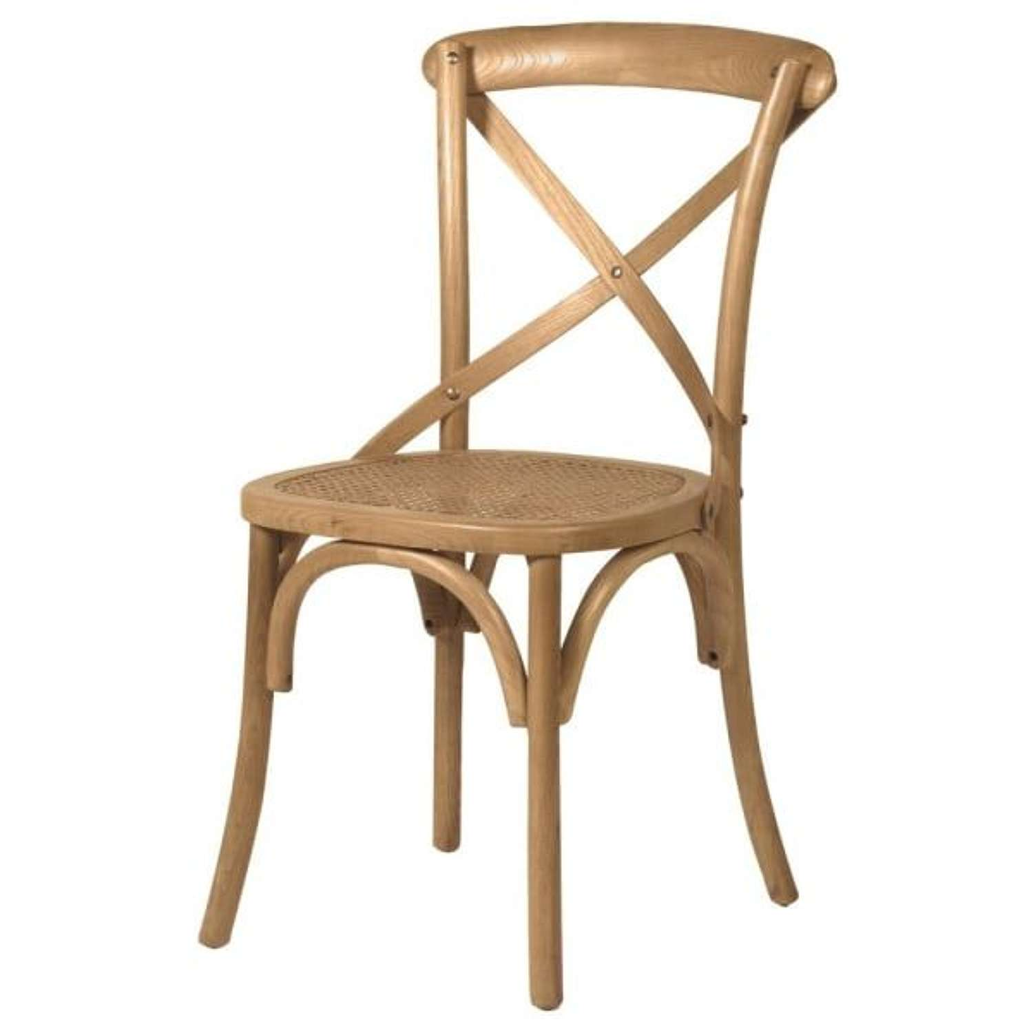 Gainsborough X-back Dining Chair with Rattan Seat.