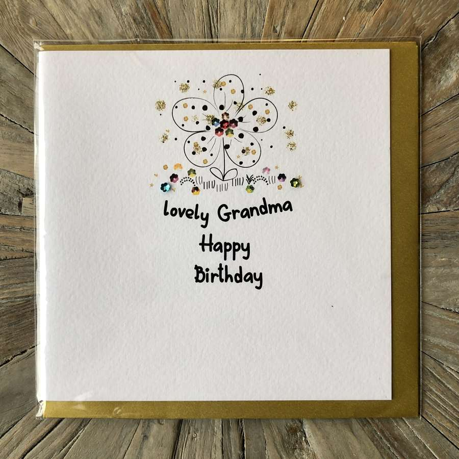 Lovely Grandma - Happy Birthday Card