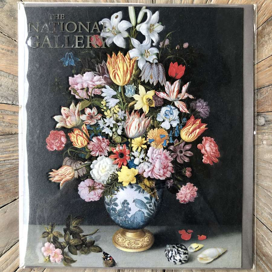 The National Gallery Card - A Still Life of Flowers in a Wan-Li Vase