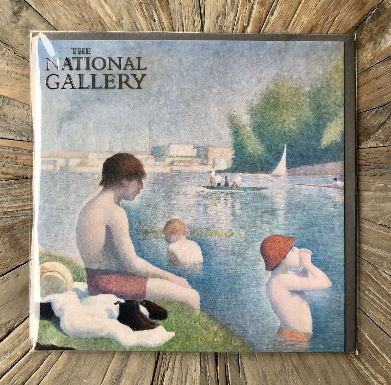 The National Gallery Card - Bathers at Asnières.