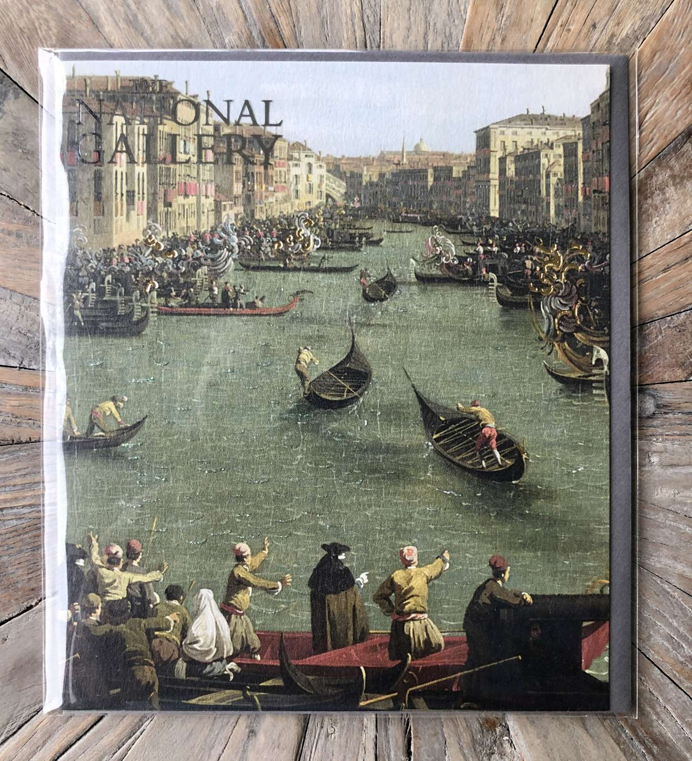 The National Gallery Card - Venice: A Regatta on the Grand Canal