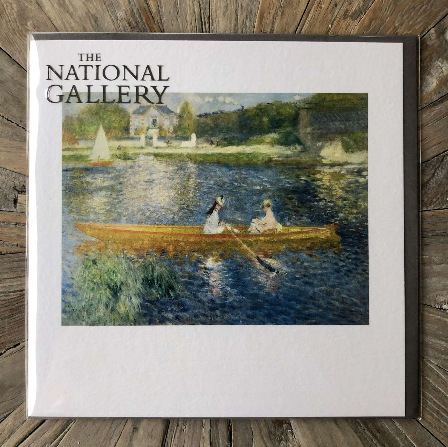 The National Gallery Card - Renoir - The Skiff.