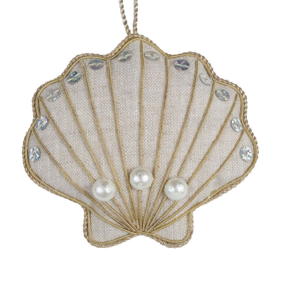 Irish Linen Oyster Shell Decoration by Katie Larmour.
