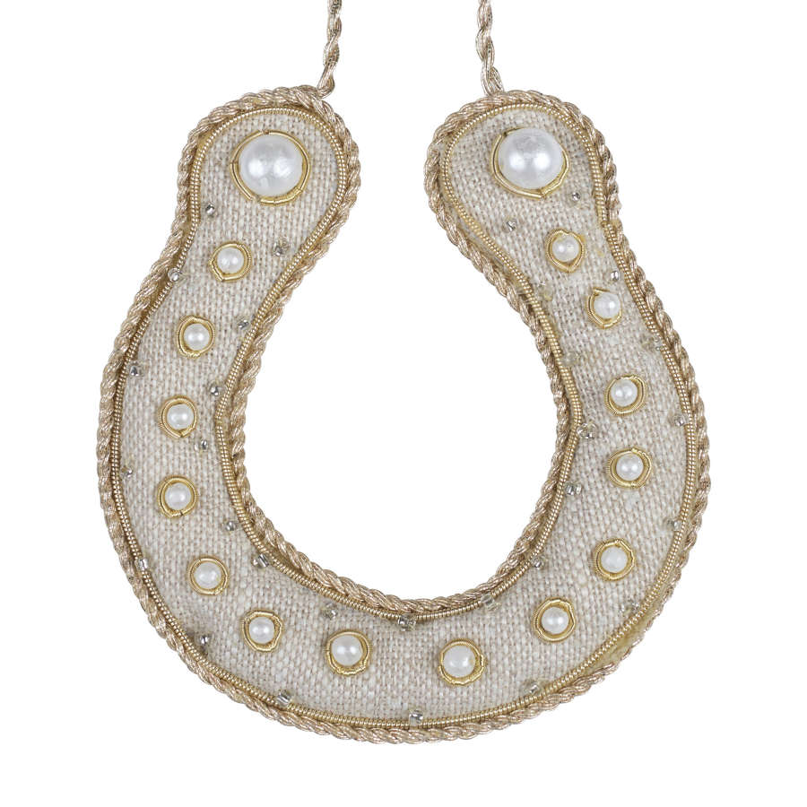 Irish Linen Horseshoe Hanging Decoration by Katie Larmour