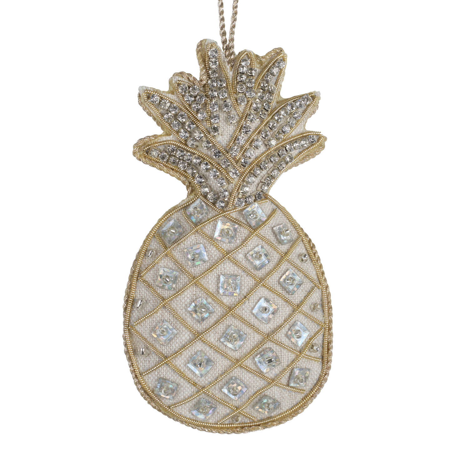 Irish Linen Pineapple Hanging Decoration by Katie Larmour.