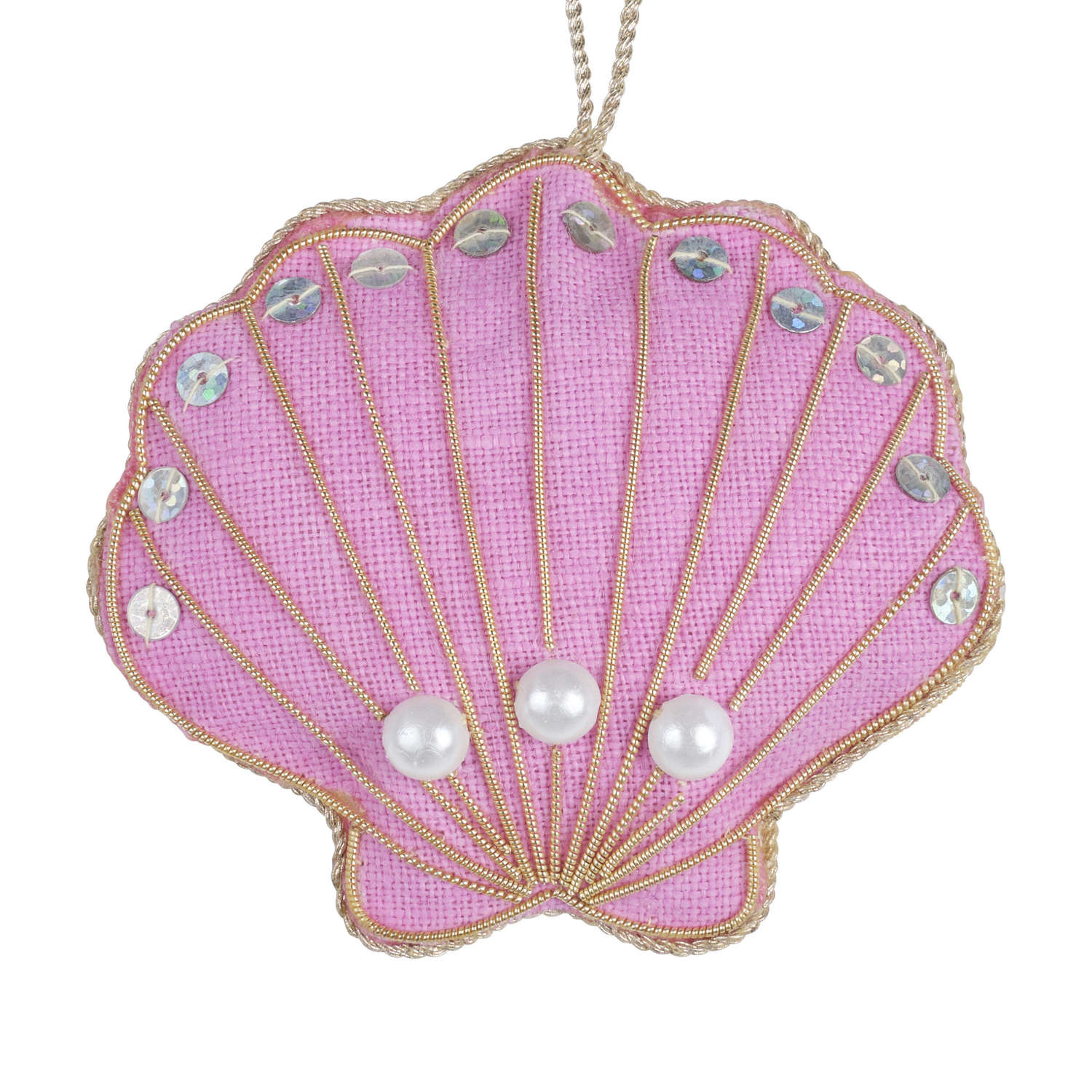 Pink Oyster Shell Hanging Decoration by Katie Larmour