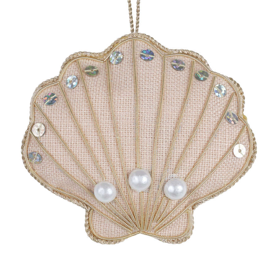 Oyster Shell Limited Edition Vintage Sandy Pink Hanging Decoration