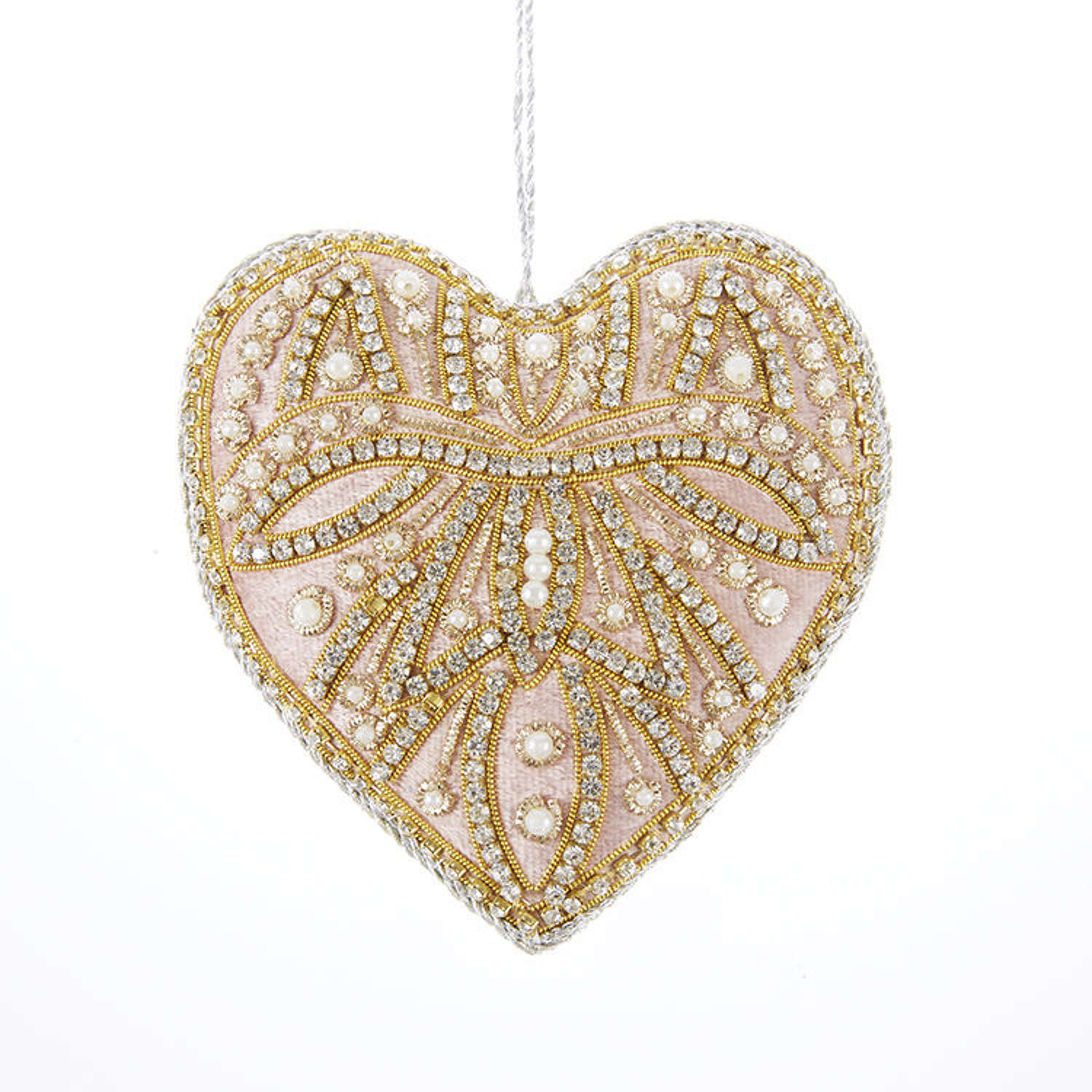 Tinker Tailor London - Pale Pink Crystal Heart Decoration