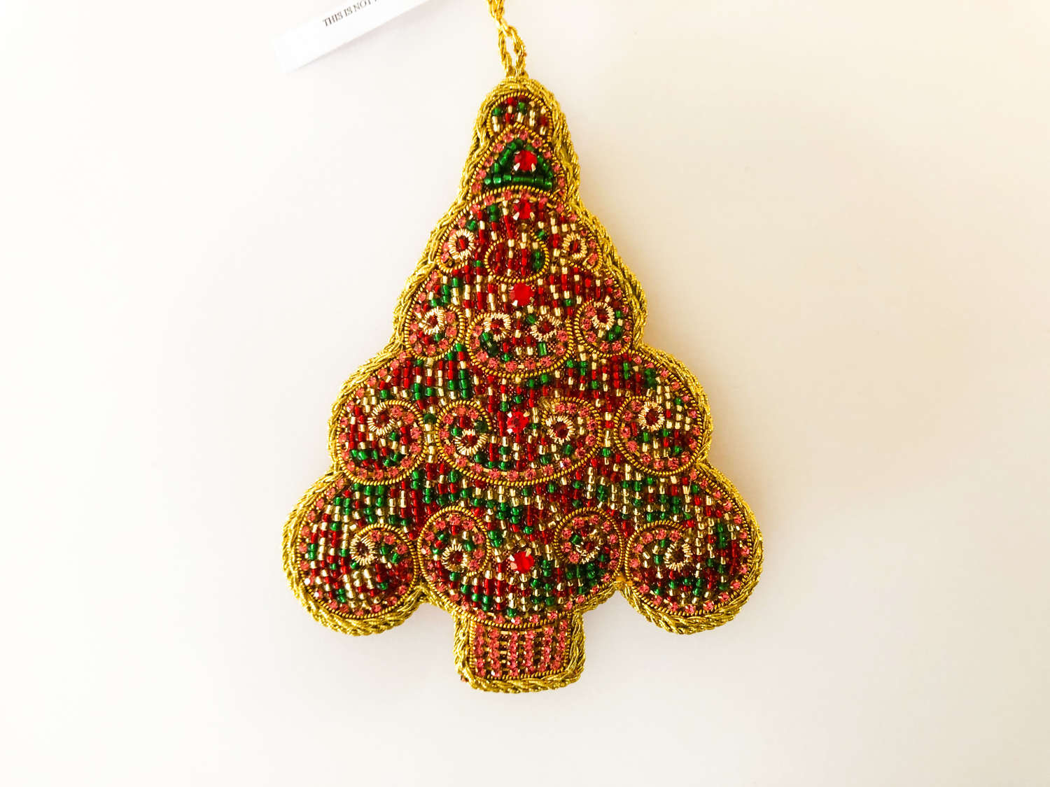 Tinker Tailor London - Pink & Green Beaded Christmas Tree