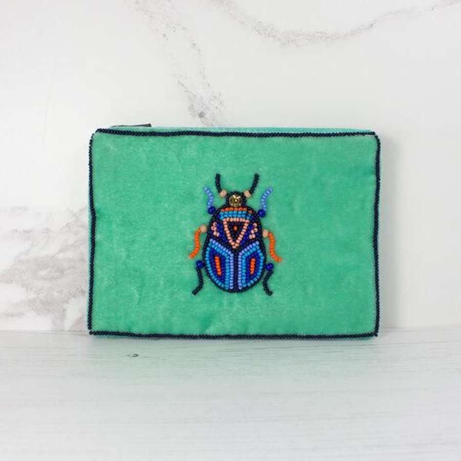 My Doris Velvet Beetle Purse - Small