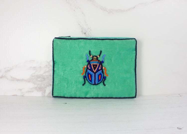 My Doris Velvet Beetle Purse - Small