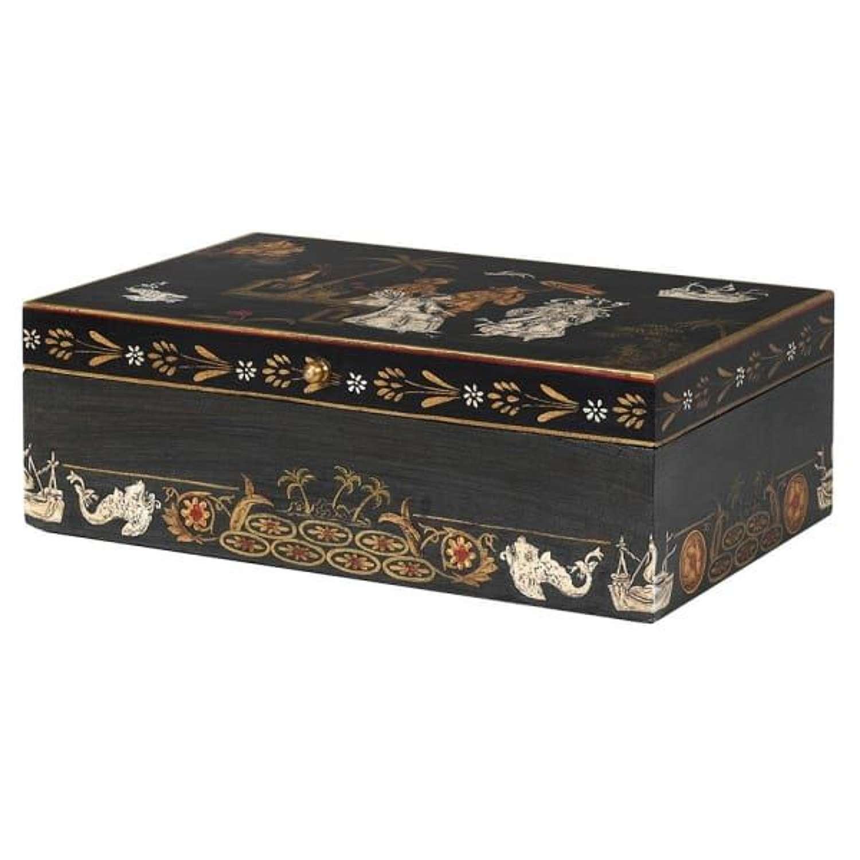 Black Geisha Scene Box