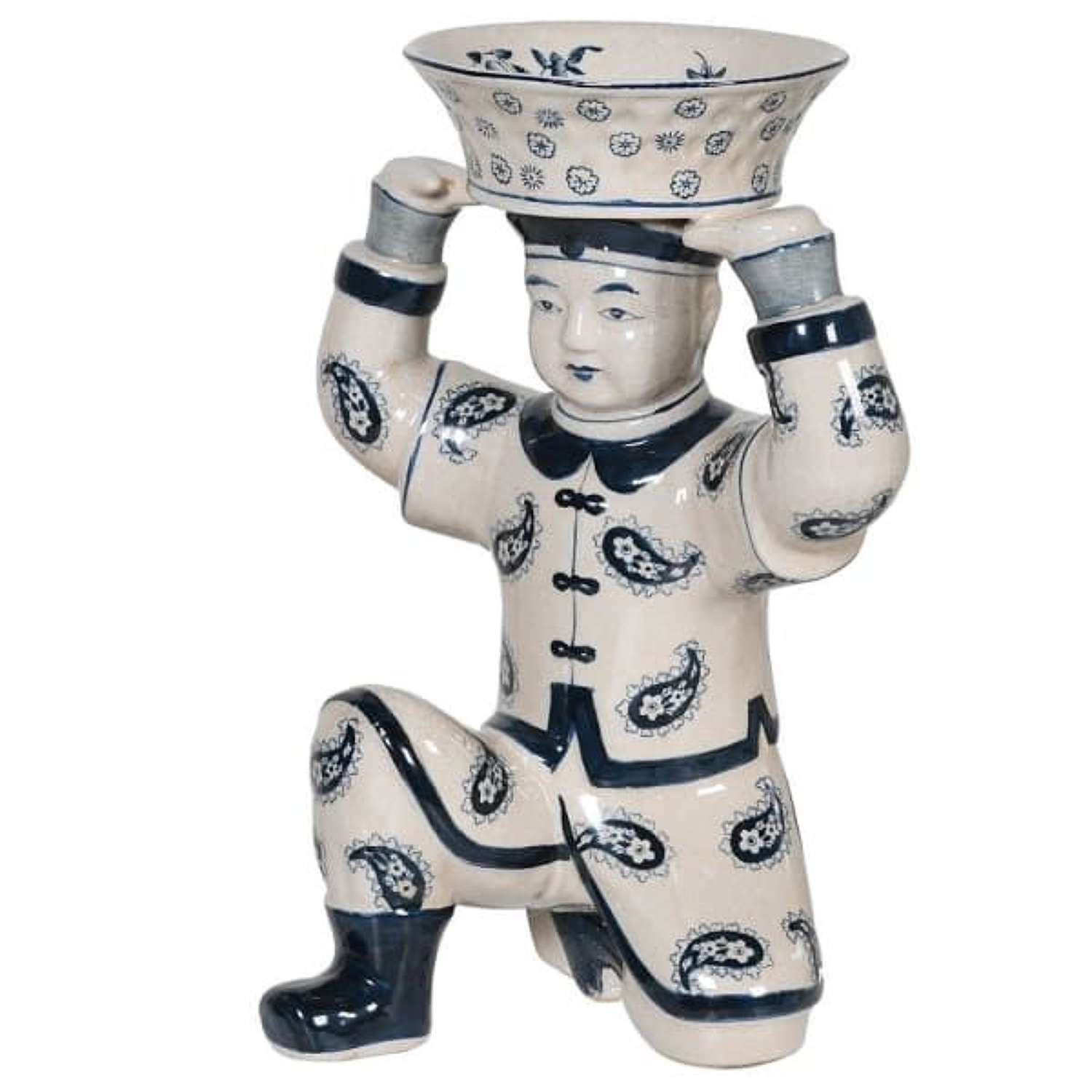 Kneeling Ceramic Warrior