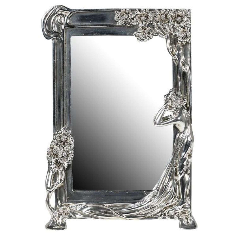 Art Nouveau Lady Mirror.