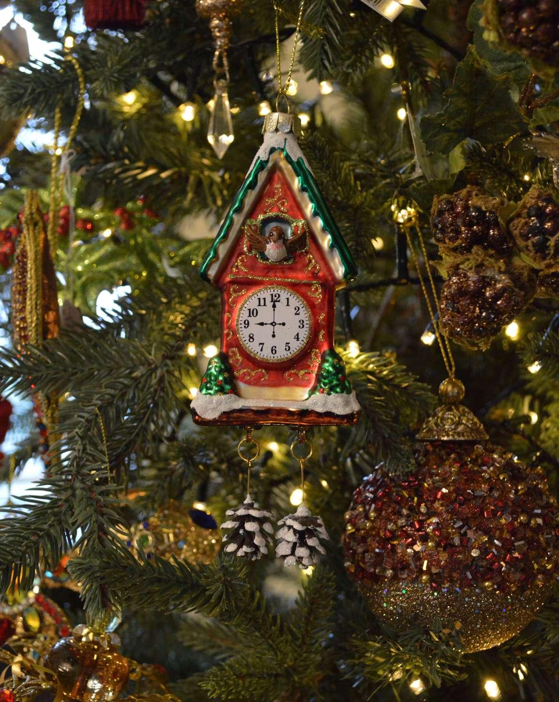 Red Cuckoo Clock Ornament