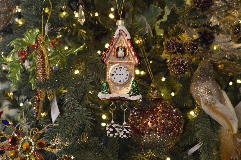 Golden Cuckoo Clock Ornament