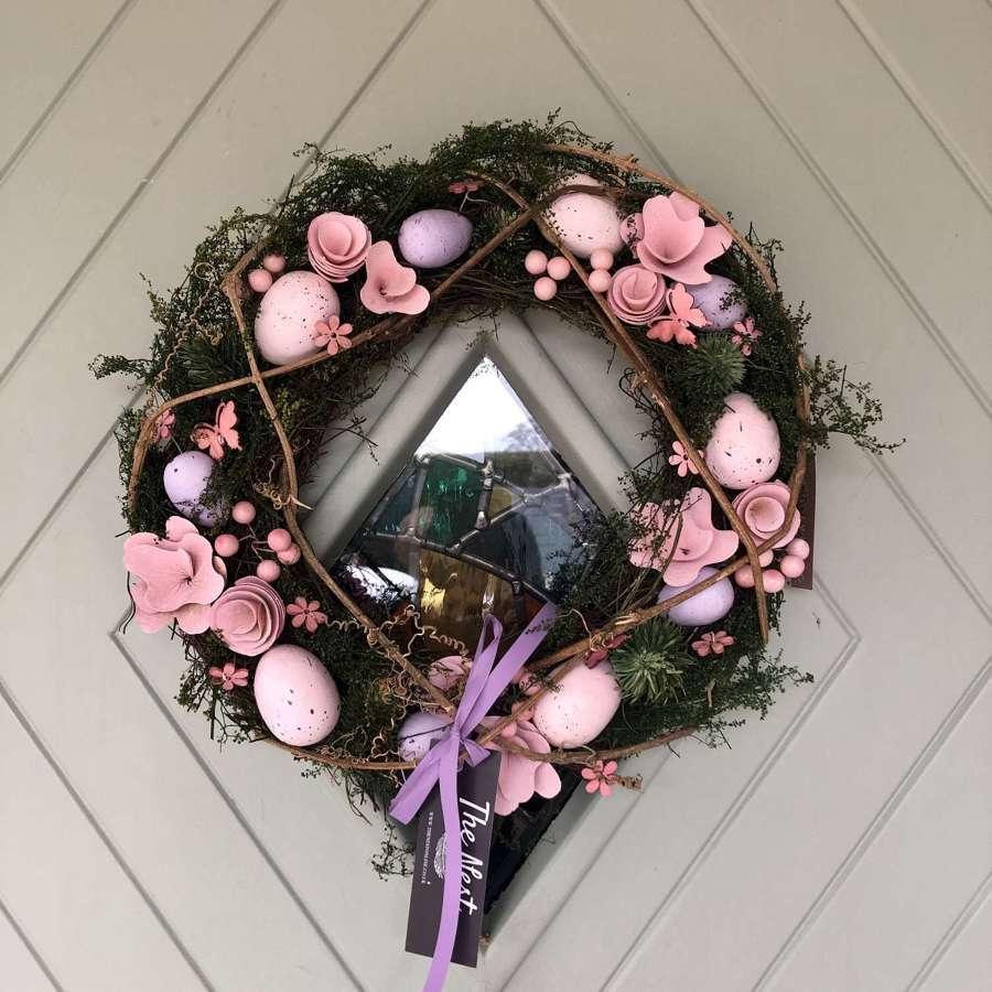 Mossy Twig & Egg Wreath