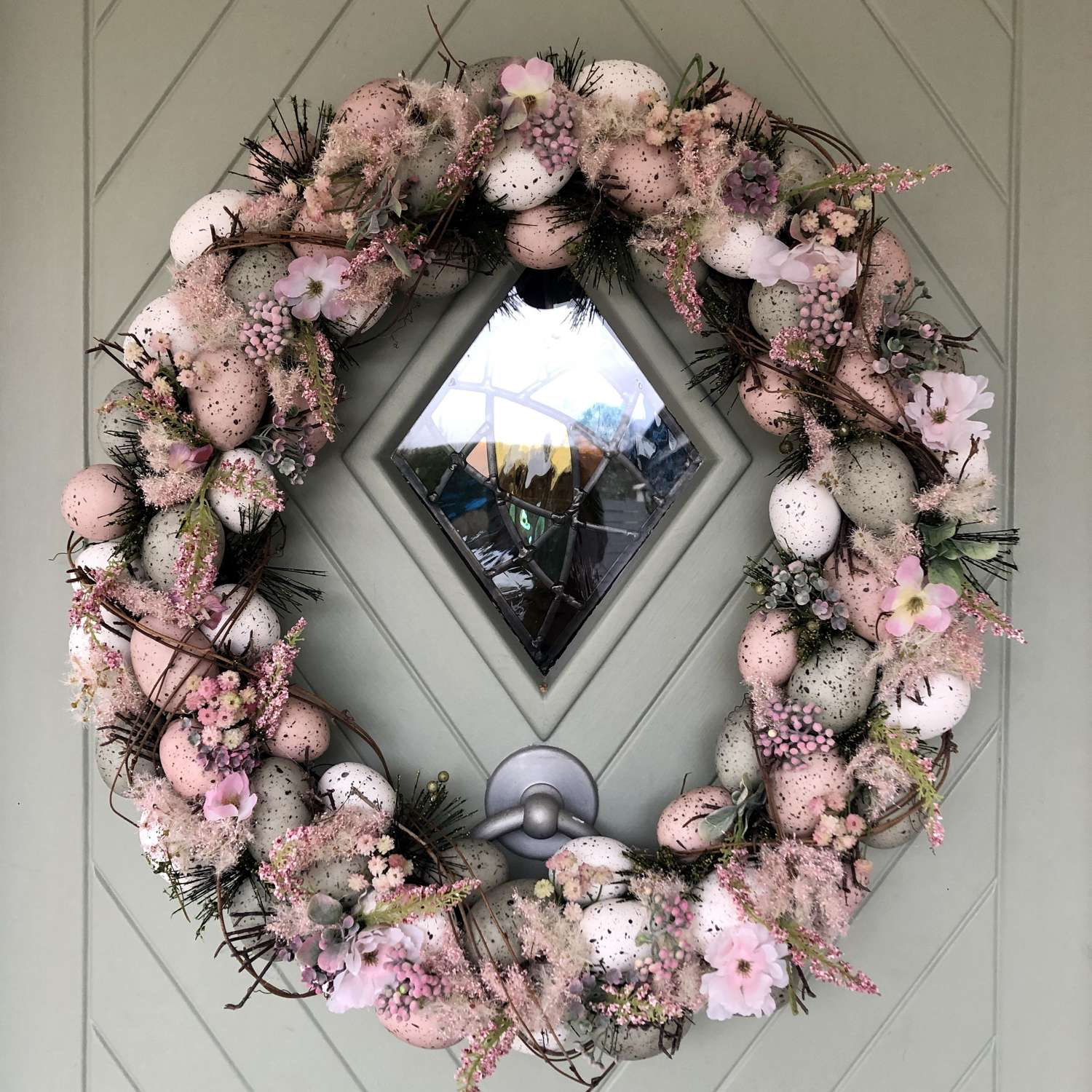 Large Floral Egg Wreath