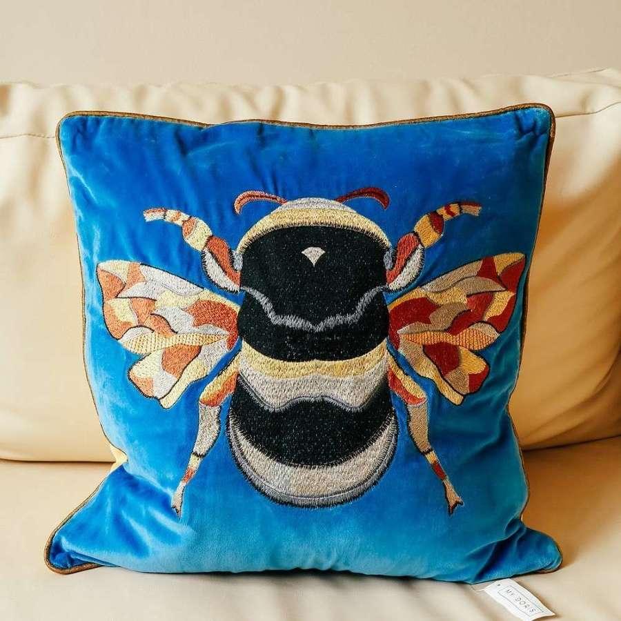 My Doris Powder Blue Bee Cushion