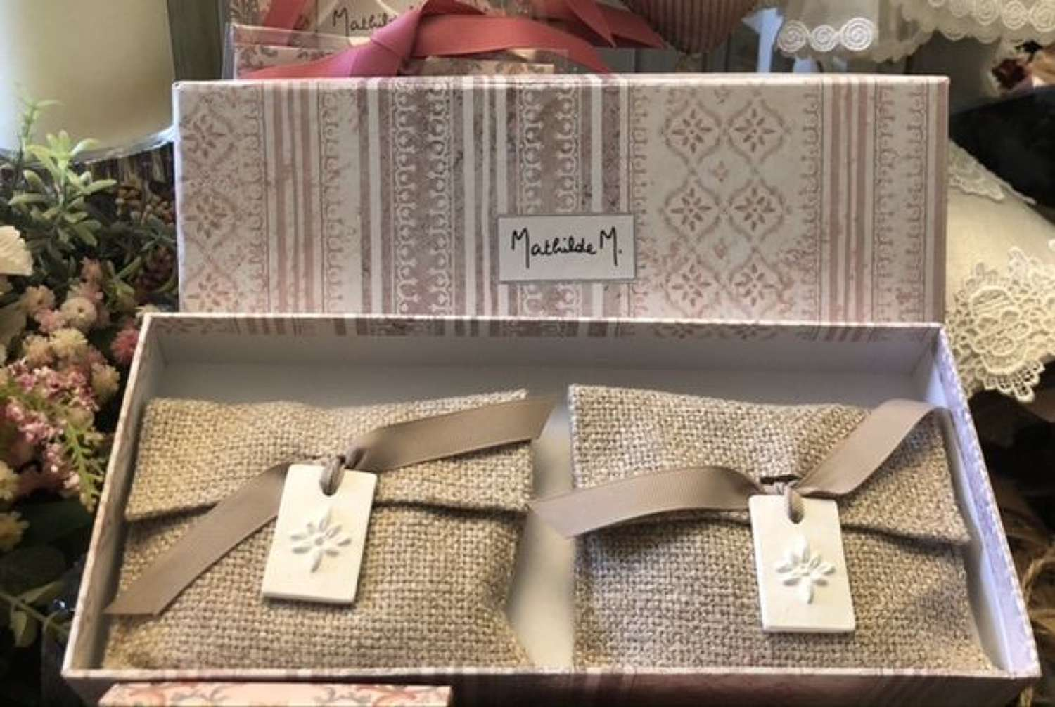 Mathilde M. France 2 Figuier Dolce Scented Pouches.